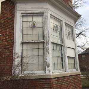 Details of windows at original kindergarten classroom