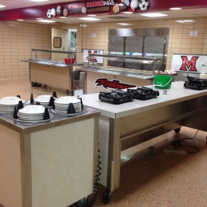 Servery before renovation.