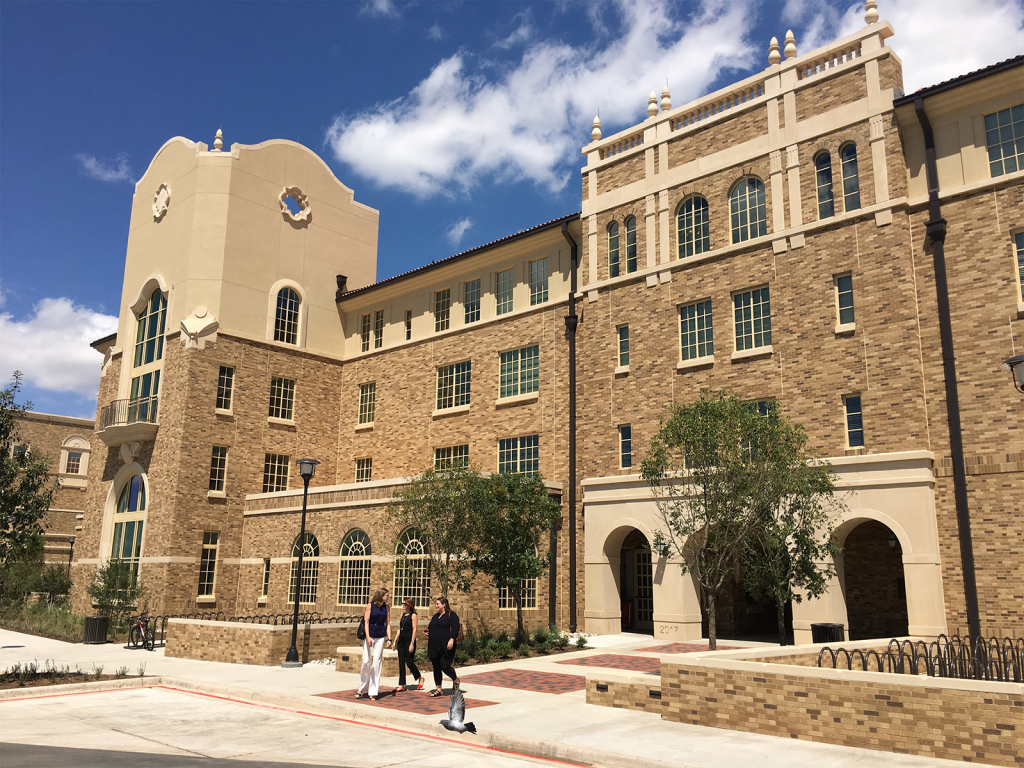 Honors Residence Hall, Texas Tech University West Elevation