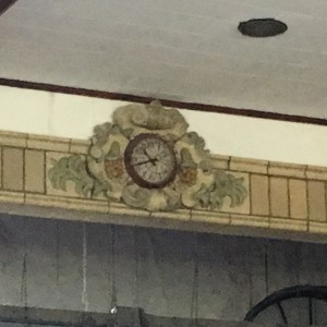 Proscenium detail at stage in gym