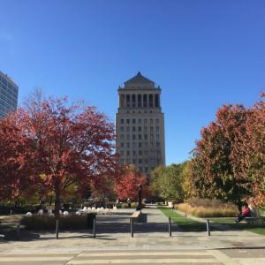 Citygarden in the Fall.